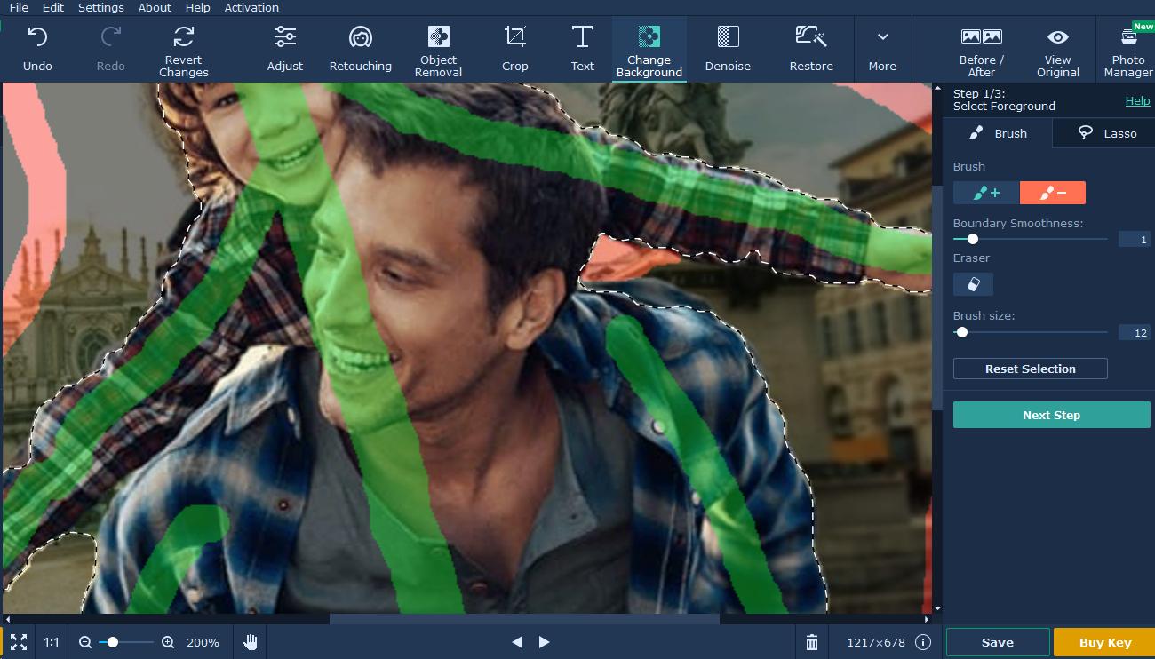 movavi photo editor tutorial background passo 4