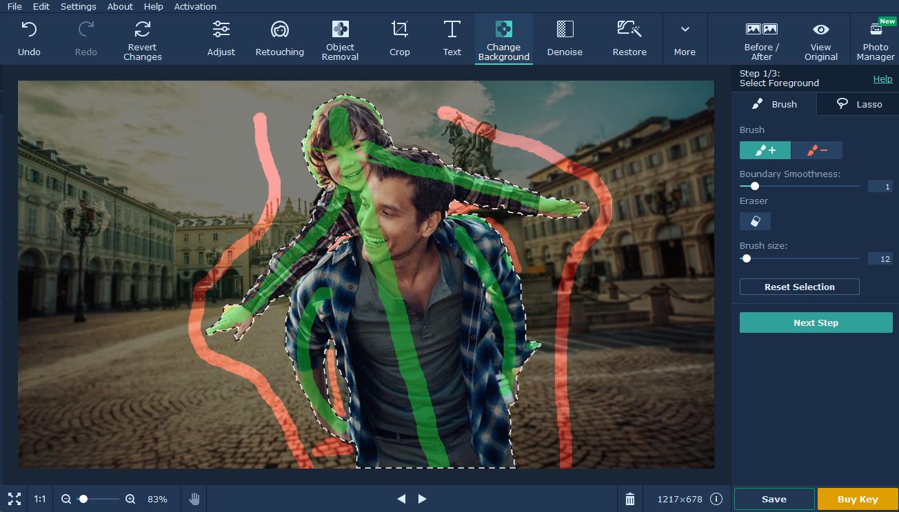 movavi photo editor tutorial background passo 5