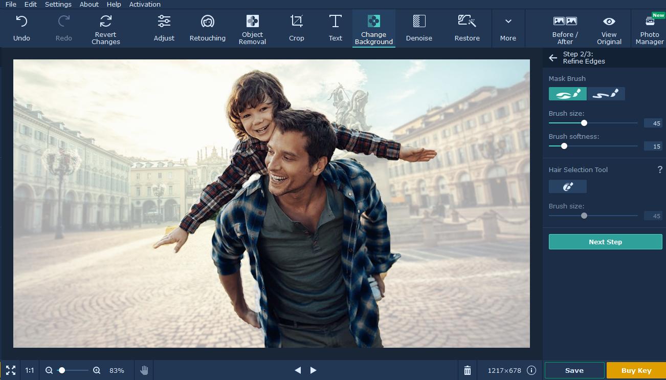 movavi photo editor tutorial background passo 6