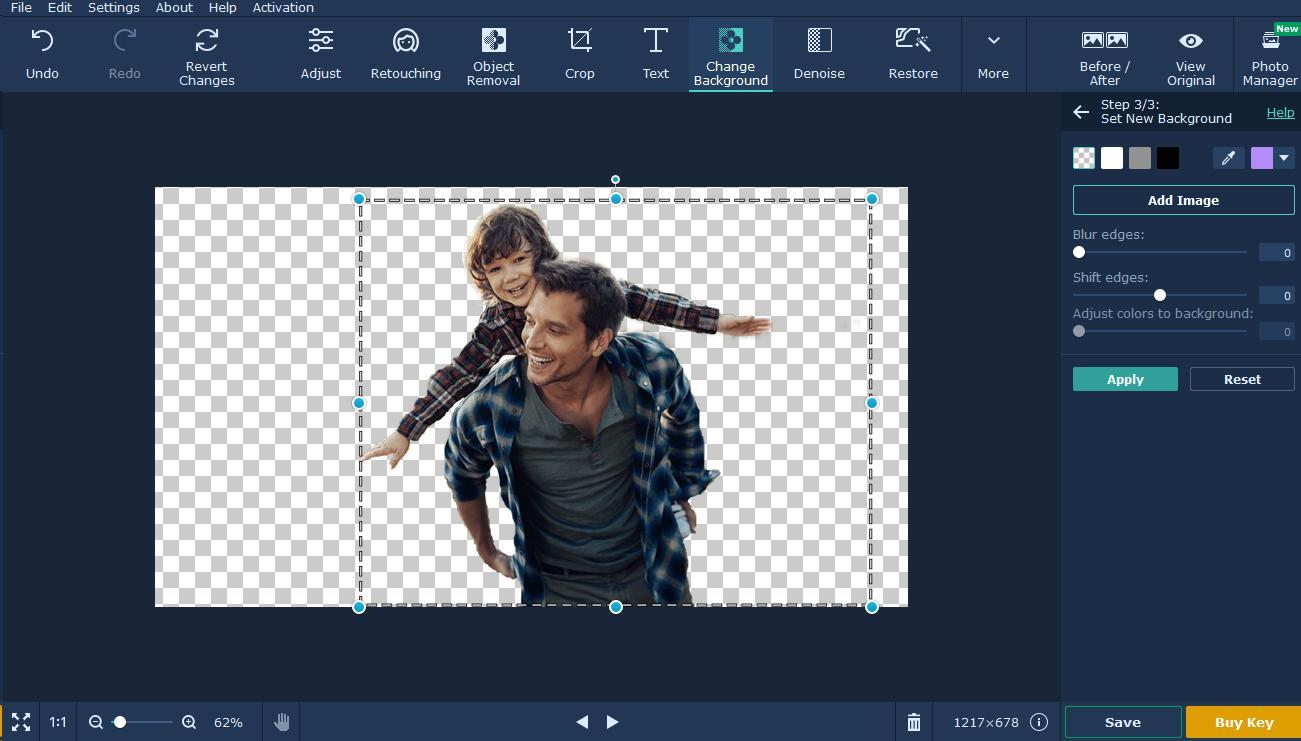 movavi photo editor tutorial background passo 9