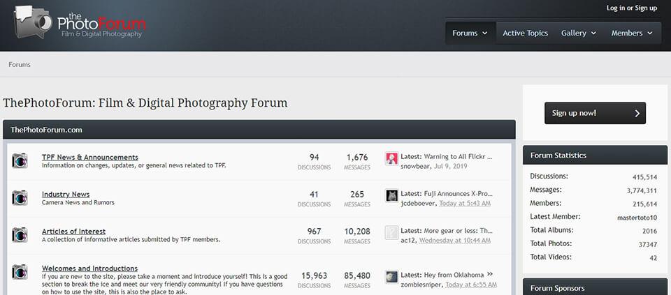 Amateur photography forum
