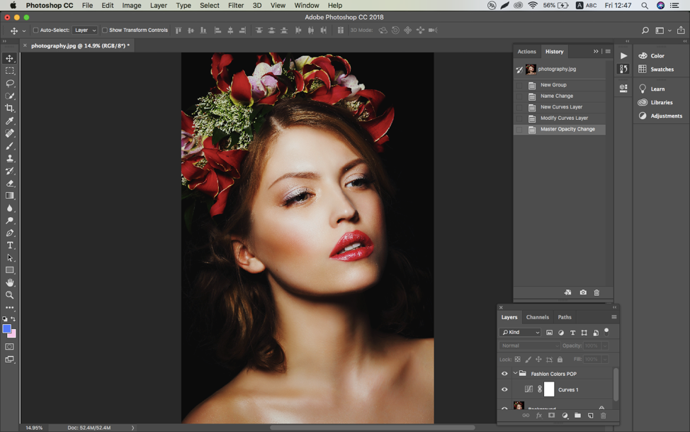 photoshop actions in use
