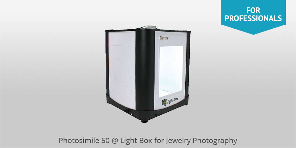 photosimile 50 lighbox for jewelry photography