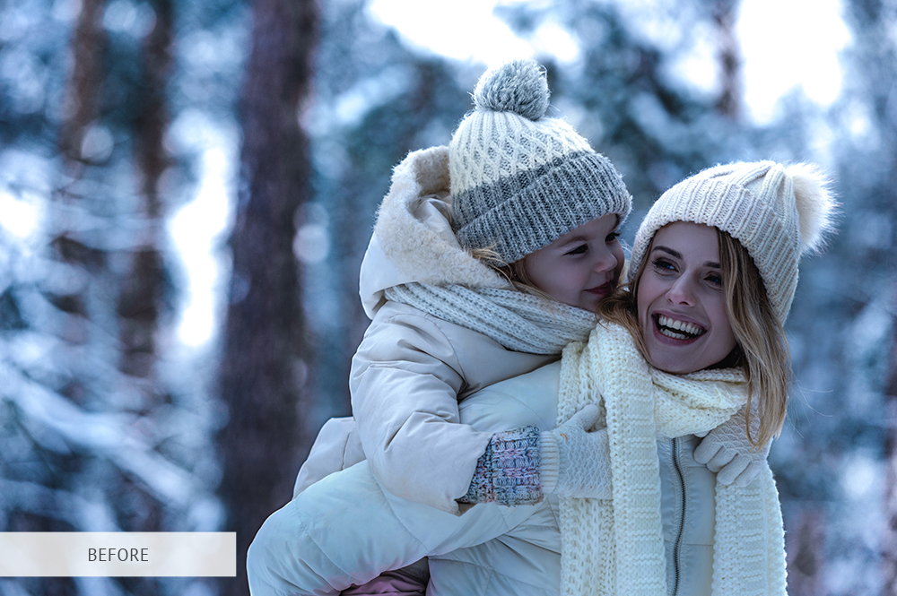 colección preestablecida para fotos familiares de invierno