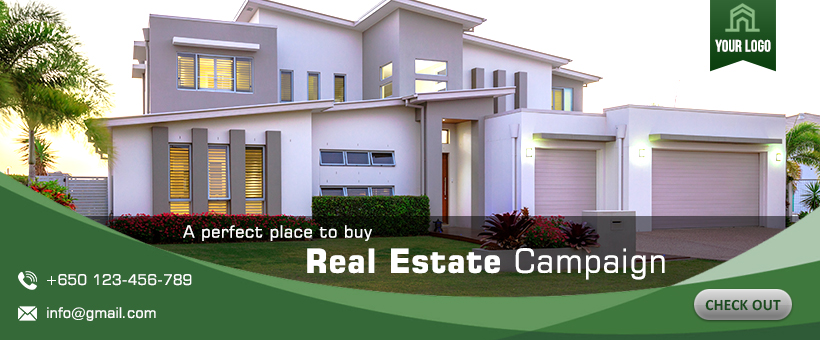 free real estate facebook cover psd