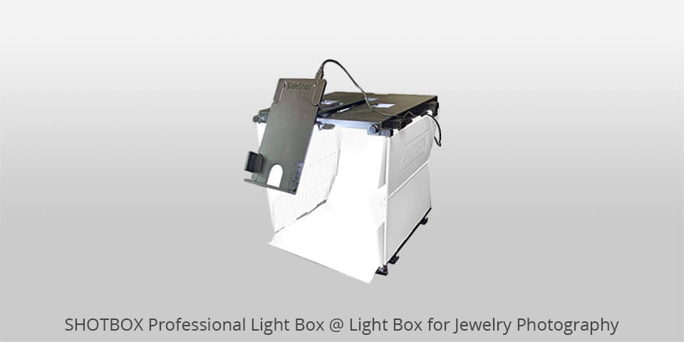 shotbox professional lighbox for jewelry photography