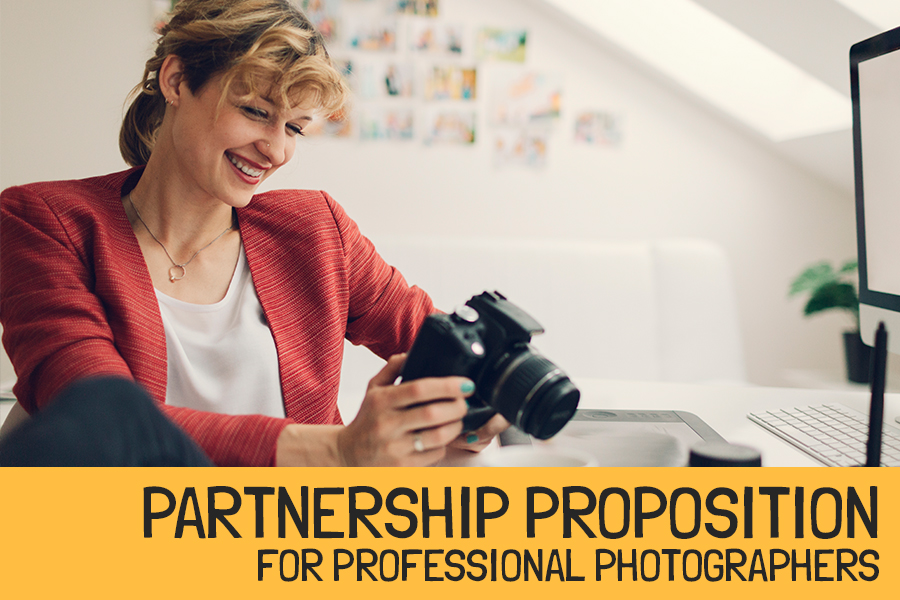 Partnership proposition for professional photographers
