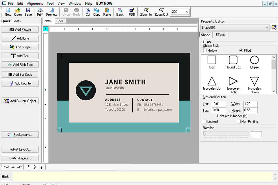 business card maker free download