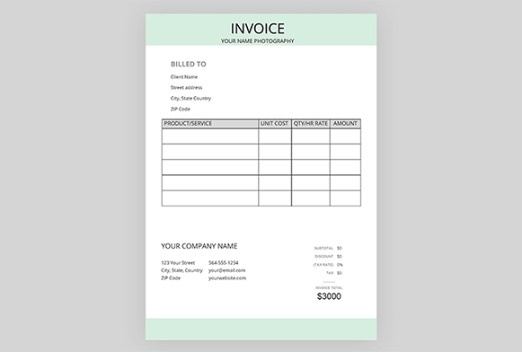 10 Free Photography Invoice Templates Free Download Now