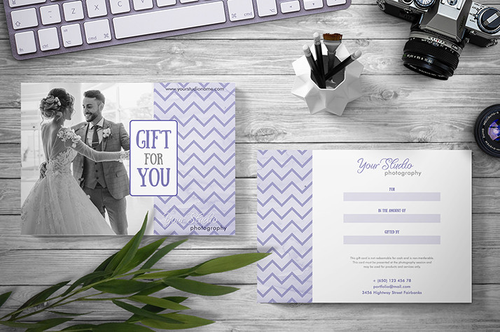 Gift Certificate Template Photoshop Photography Gift Certificates